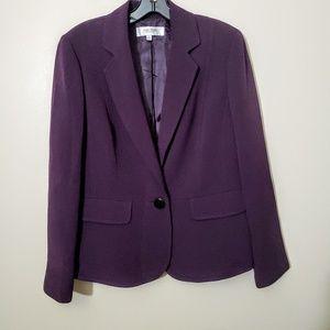 Jones Studio Royal Purple Suit Jacket